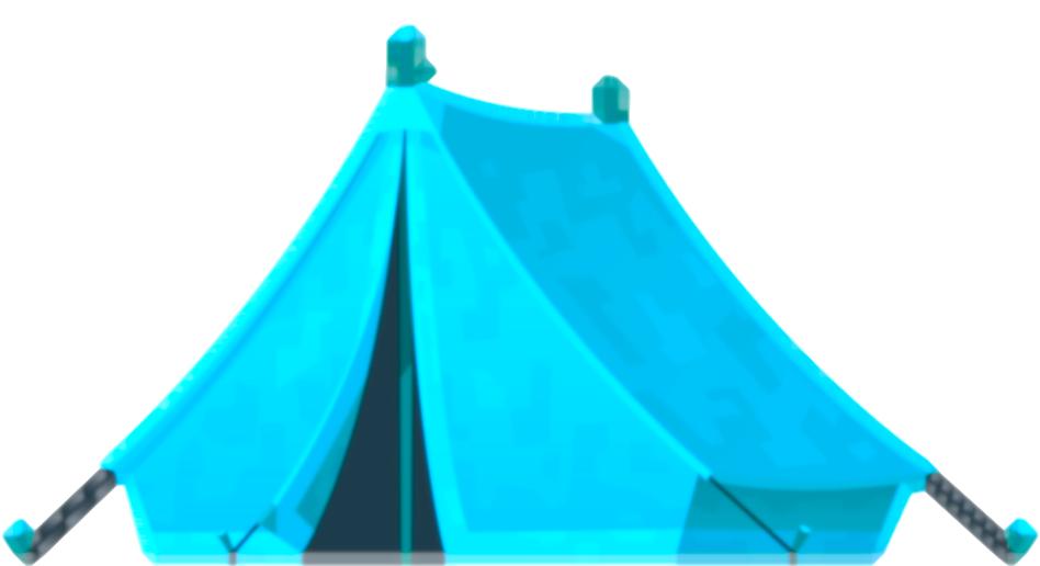 Bild på ett tält